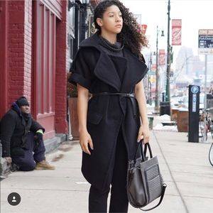 Black Nasty Gal Trench Coat